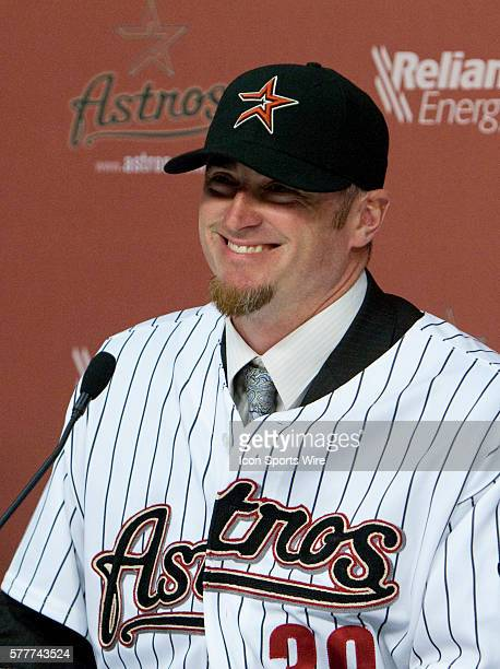 Brett Myers is introduced by the Hosuton Astros at a press conference after signing a one year contract Tuesday January 12 2010 at Minute Maid Park...