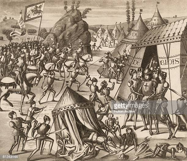 January 1347 Charles de Blois Duke of Brittany and nephew of Philip VI is taken prisoner by the English at the Battle of La RocheDerrien Original...