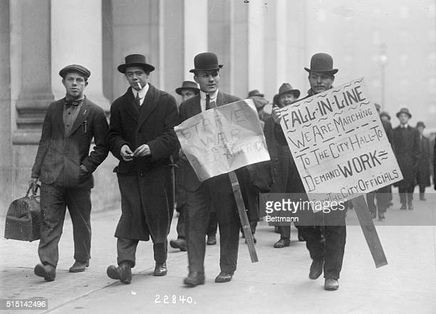 January 15 1915 Brooklyn's unemployed marching to New York January 15 1915
