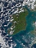 January 15, 2002 - Phytoplankton bloom off the coast of Ireland.