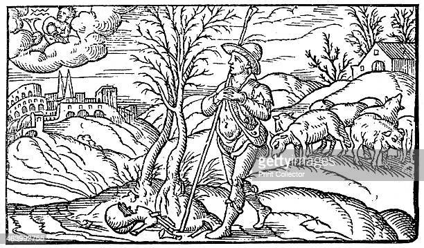 January 1597 Illustration from Shepherd's Calendar 1597 An illustration from A Short History of the English People by John Richard Green illustrated...