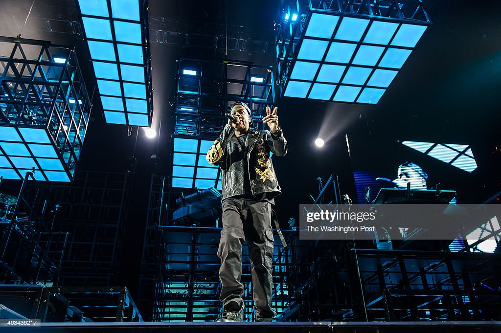 WASHINGTON, DC - January 16th, 2014 - Jay Z performs at the Verizon Center in Washington, D.C. as part of his Magna Carter World Tour. Jay Z's latest album, Magna CarterHoly Grail was released by a mobile phone app in conjunction with Samsung and debuted at #1 on the Billboard 200 album charts.