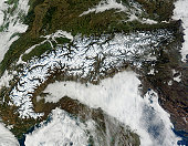 January 17, 2011 - Satellite image of The Alps mountain range.