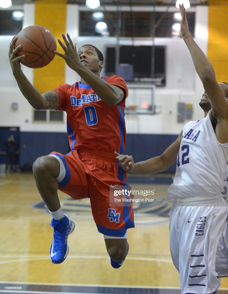 DeMatha G Jarius Lyles (0) drives to the basket during 1st half action against Gonzaga on January 17, 2013 in Washington, DC