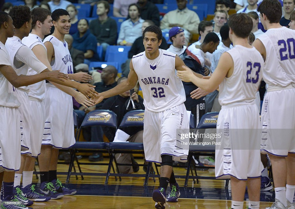 Gonzaga F Matt Jackson (13) is introduced prior to action against DeMatha on January 17, 2013 in Washington, DC