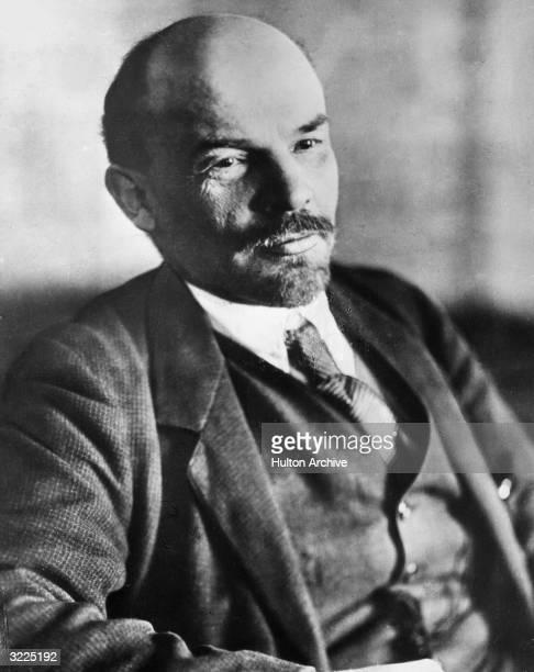 Soviet Communist leader Vladimir Ilyich Lenin in Petrograd USSR