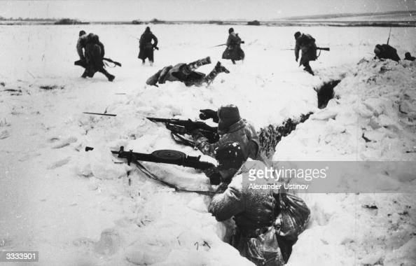 German prisoners of war on a forced march north west of Stalingrad