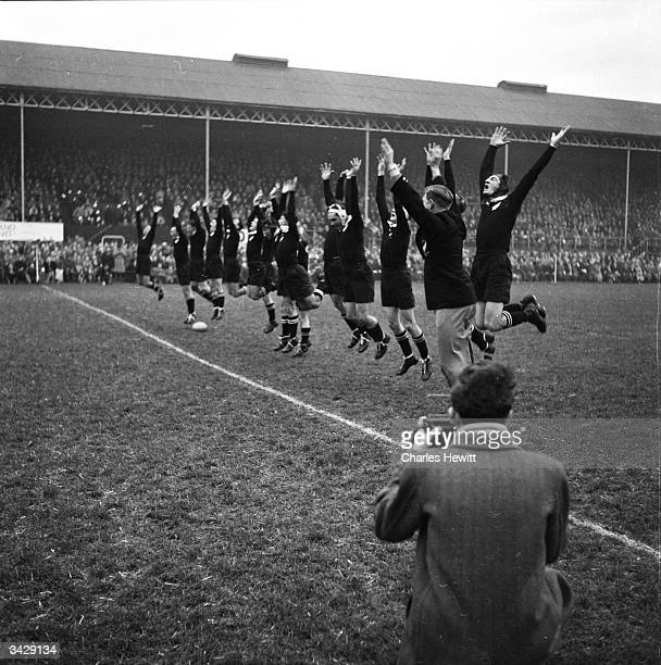 The New Zealand rugby team known as the All Blacks celebrate their 143 win against Ireland in Dublin Original Publication Picture Post 6890 England V...