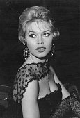French film star and sexsymbol Brigitte Bardot enjoys the London night life