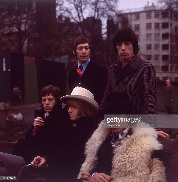 The Rolling Stones in London Clockwise from left Mick Jagger Charlie Watts Bill Wyman Keith Richards Brian Jones