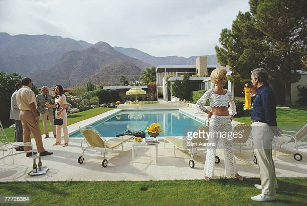 The Kaufmann Desert House in Palm Springs California designed by Richard Neutra in 1946 for businessman Edgar J Kaufmann and now owned by Nelda Linsk...