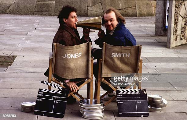 British actor and comedian Griff RhysJones and Mel Smith appear in a new TV comedy series 'The World According To Smith and Jones'