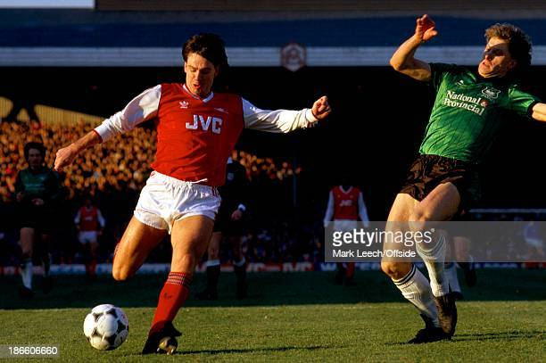 31 January 1987 FA Cup 4th Round Arsenal v Plymouth Argyle Charlie Nicholas opens the scoring for Arsenal with the first of their six goals