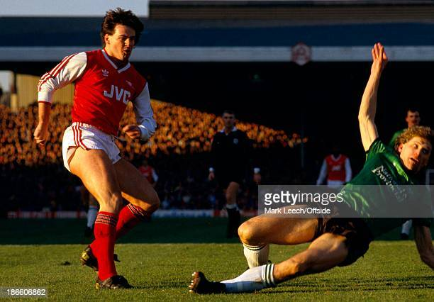 31 January 1987 FA Cup 4th Round Arsenal v Plymouth Argyle Charlie Nicholas scores the first Arsenal goal