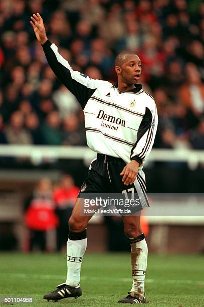 29 January 2000 FA Cup 5th Round Fulham v Tranmere Rovers Wayne Collins of Fulham