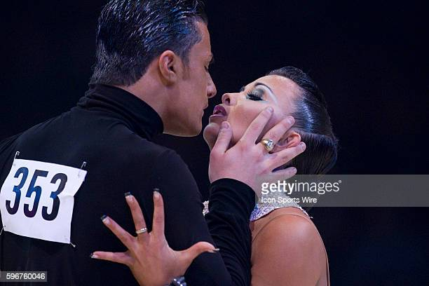 Vincenzo Marinello and Sara Casini perform during the Masters Bercy Latin and Ballroom Dancesport Championship 2010 at Palais Omnisports Paris Bercy...