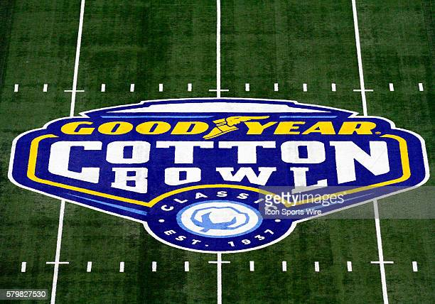 ATT Stadium with Goodyear logo during the 2015 Goodyear Cotton Bowl game between the Michigan State Spartans and the Baylor Bears played at ATT...