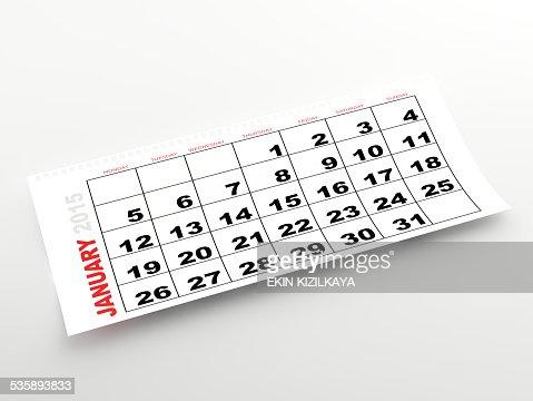 January 2015 calendar : Stock Photo