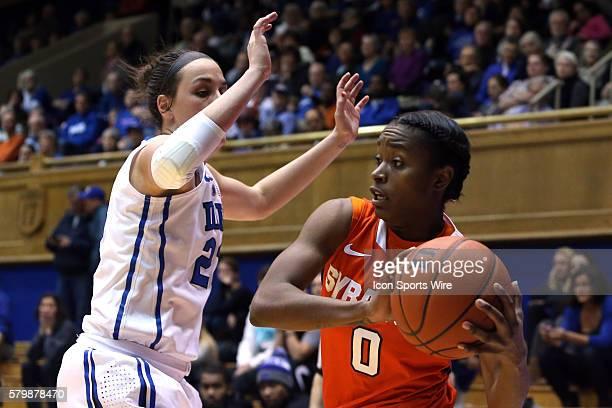 Syracuse's Diamond Henderson and Duke's Rebecca Greenwell The Duke University Blue Devils hosted the Syracuse University Orange at Cameron Indoor...