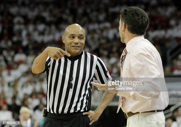 University of Louisville head coach Rick Pitino reacts to the official during game against the University North Carolina at the KFC Yum Center in...