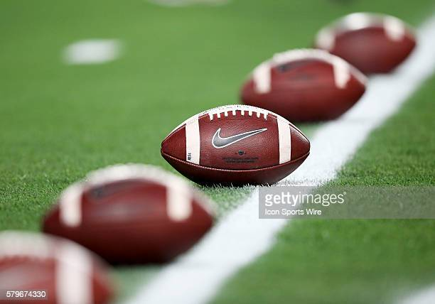 General picture of the footballs before the National Championship Game between the Alabama Crimson Tide and the Clemson Tigers at the University of...