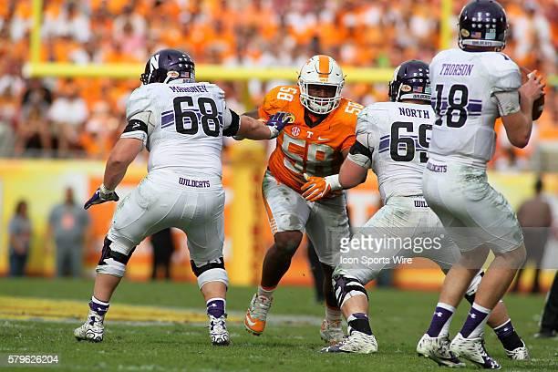 Owen Williams Tennessee Volunteers defensive linemen Connor Mahoney Northwestern Wildcats offensive lineman Brad North Northwestern Wildcats...
