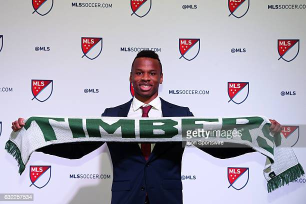 Jeremy Ebobisse was taken with the overall pick by Portland Timbers FC The 2017 MLS SuperDraft was held at The Los Angeles Convention Center in Los...