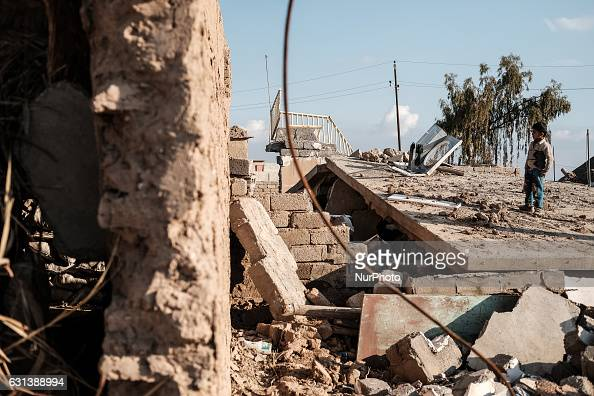 January 2017 Wardak Iraq Boy at destroyed building The Kakai Kurds are returning to their homes as Mosul offensive continiues The Kakai Kurds are one...