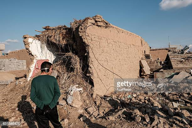 January 2017 Wardak Iraq Destroyed builidng The Kakai Kurds are returning to their homes as Mosul offensive continiues The Kakai Kurds are one of...