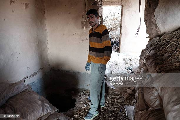 January 2017 Wardak Iraq ISIL tunnel entry inside house taken from ISIL The Kakai Kurds are returning to their homes as Mosul offensive continiues...