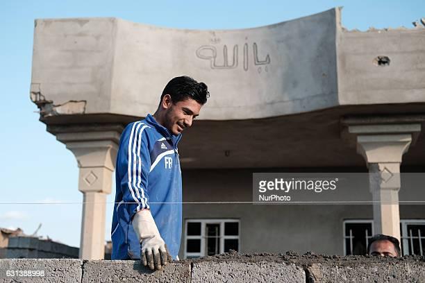 January 2017 Wardak IraqKakais repairing destroyed house The Kakai Kurds are returning to their homes as Mosul offensive continiues The Kakai Kurds...