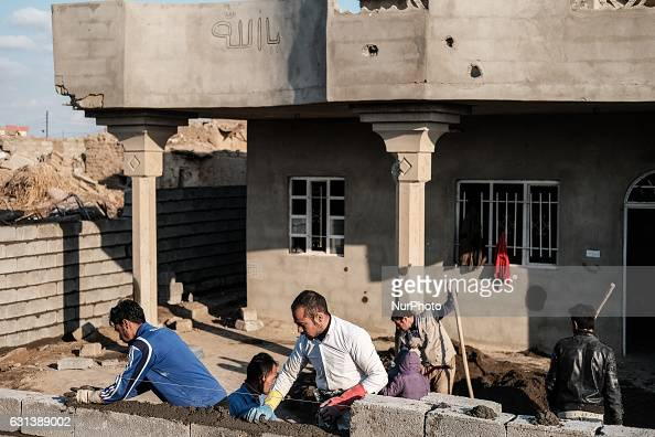 January 2017 Wardak IraqKakais repairing destroyed house The Kakai Kurds are returning to their homes as Mosul offensive continiues The Kakai Kurds...