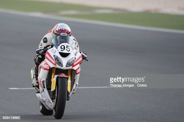 DOHA QATAR January 20th 2017 Losail Circuit Qatar Mashel Al Naimi during qualifying for the first race of the Qatar Superstock 600 Championship All...