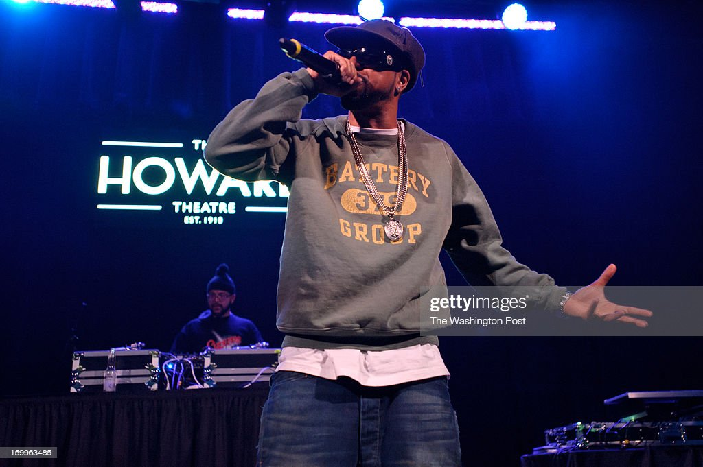 WASHINGTON, DC - January 22nd, 2013 - Long Island rapper Roc Marciano (right) performs with DJ Alejandro at the Howard Theater in Washington, D.C. His sophomore album, Reloaded, was released to widespread acclaim in November 2012.