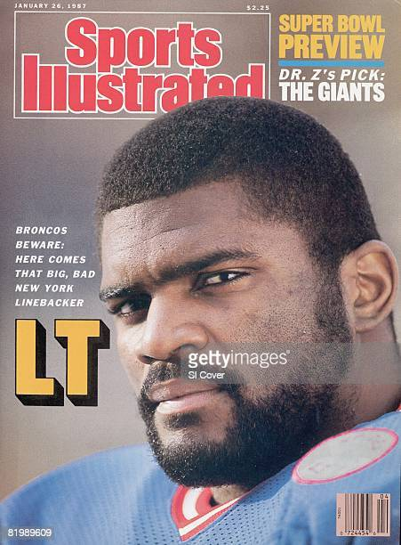 January 26 1987 Sports Illustrated Cover Football Closeup portrait of New York Giants Lawrence Taylor at home Upper Saddle River NJ 1/14/1987 CREDIT...
