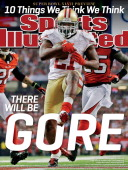 January 28 2013 Sports Illustrated Cover NFC Playoffs San Francisco 49ers Frank Gore in action rushing for 9yard touchdown vs Atlanta Falcons during...
