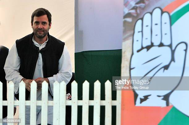 VicePresident of the Indian National Congress party Rahul Gandhi rally at Shastri Park in East Delhi