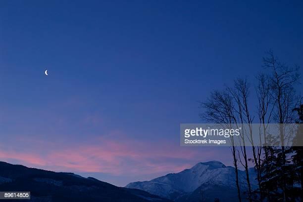 January 5, 2005 - Moon at Dawn, New Aiyansh, British Columbia, Canada.