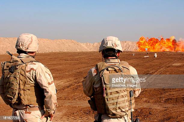 January 5, 2006 - U.S. soldiers detonate a test explosion at range ASP4 in Ad Diwaniyah, Iraq.
