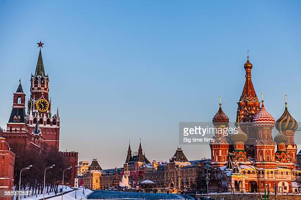 January dawn on the Red Square in Moscow.