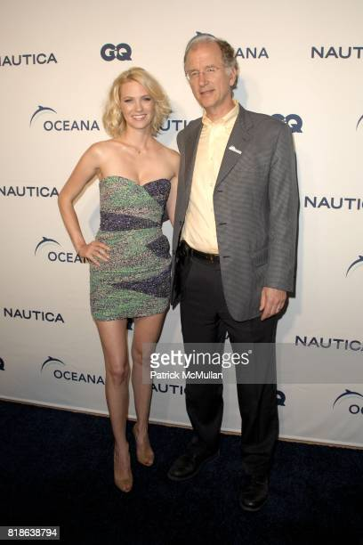 January Jones and Andrew Sharpless attend GQ World Oceans Day Party at Sunset Tower Hotel on June 8 2010 in West Hollywood California