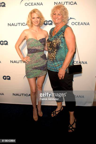 January Jones and Andy Sharpless attend GQ World Oceans Day Party at Sunset Tower Hotel on June 8 2010 in West Hollywood California