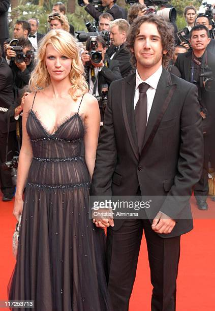 January Jones and Josh Groban during 2005 Cannes Film Festival Closing Ceremony and Chromophobia Screening at Palais de Festival in Cannes France