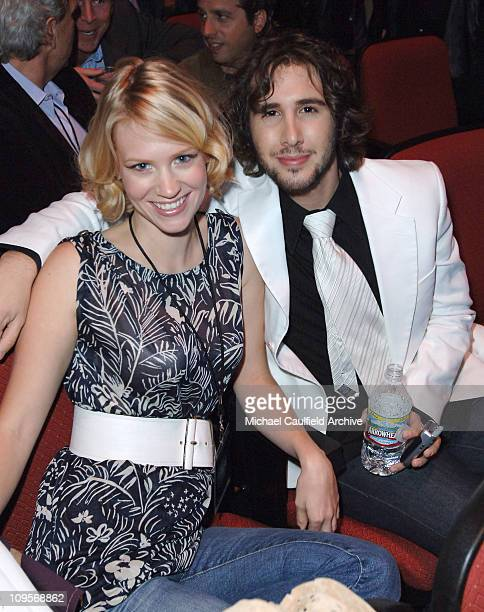 January Jones and Josh Groban during The Recording Academy and Entertainment Industry Foundation Hosts the Second Annual GRAMMY Jam Presented by...