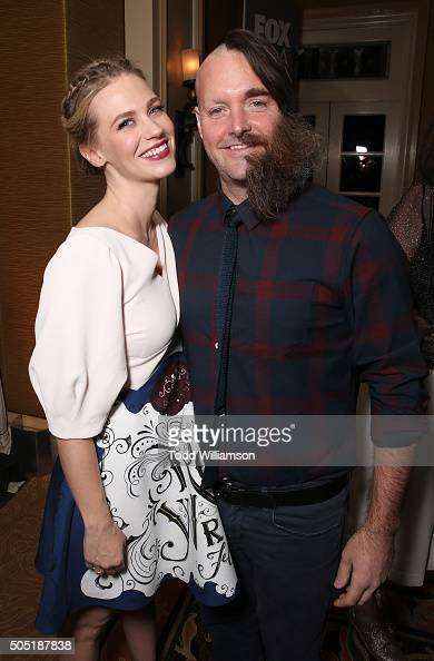 January Jones and Will Forte attend the 2016 Winter TCA Tour FOX All Star Party at The Langham Huntington Hotel and Spa on January 15 2016 in...