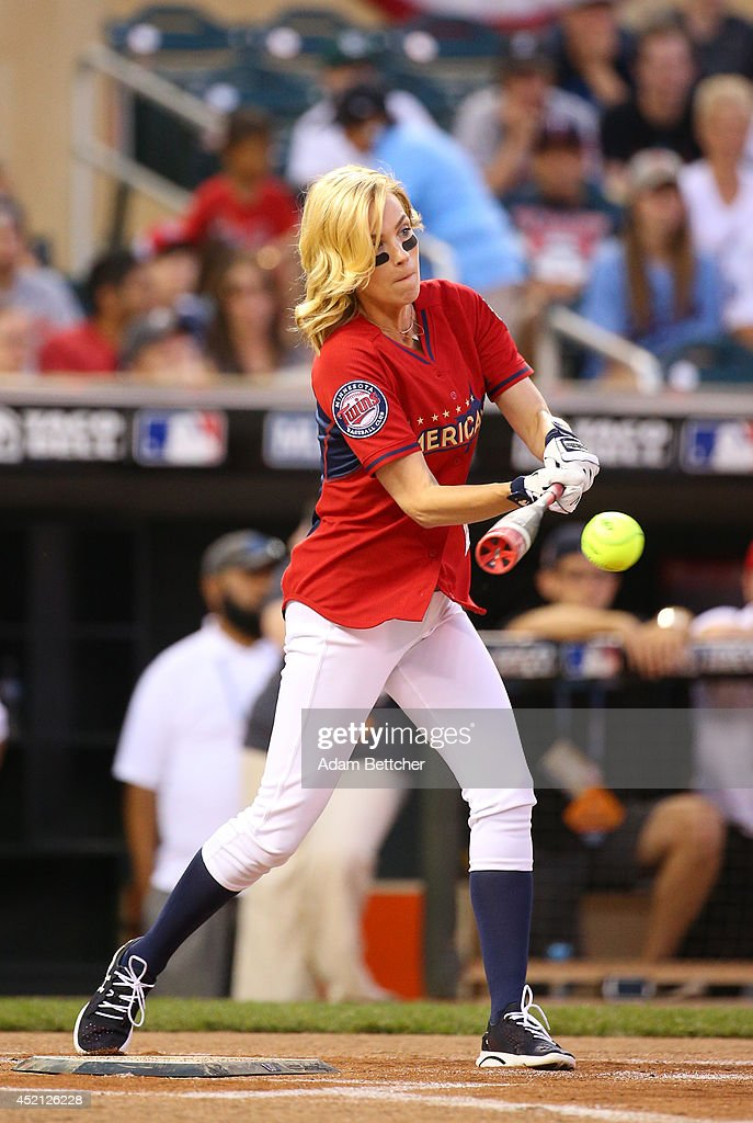 January Jones at the 2014 MLB All-Star legends and celebrity softball game on July 13, 2014 at the Target Field in Minneapolis, Minnesota.