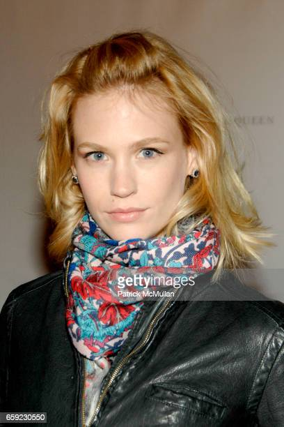 January Jones attends McQ Alexander McQueen for Target Debuts TARGET McQ MARKET in NYC at St John's Center on February 13 2009 in New York City