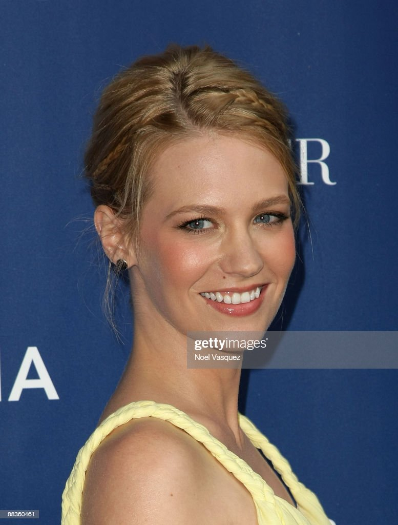 January Jones attends Oceana's celebration of World Oceans Day with La Mer at a private residence on June 8 2009 in Los Angeles California