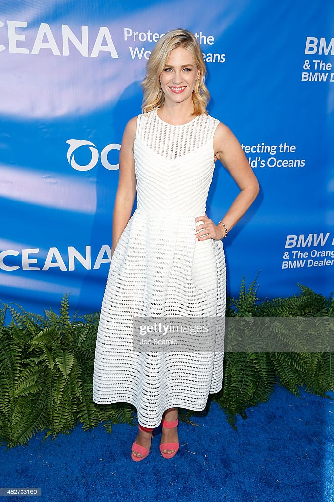 January Jones attends the 8th Annual Oceana SeaChange Summer Party at Strands Beach on August 1 2015 in Dana Point California