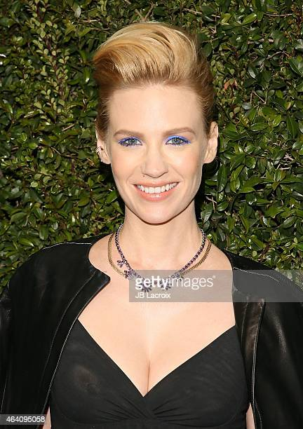 January Jones attends the Chanel And Charles Finch PreOscar Dinner at Madeo Restaurant on February 21 2015 in West Hollywood California